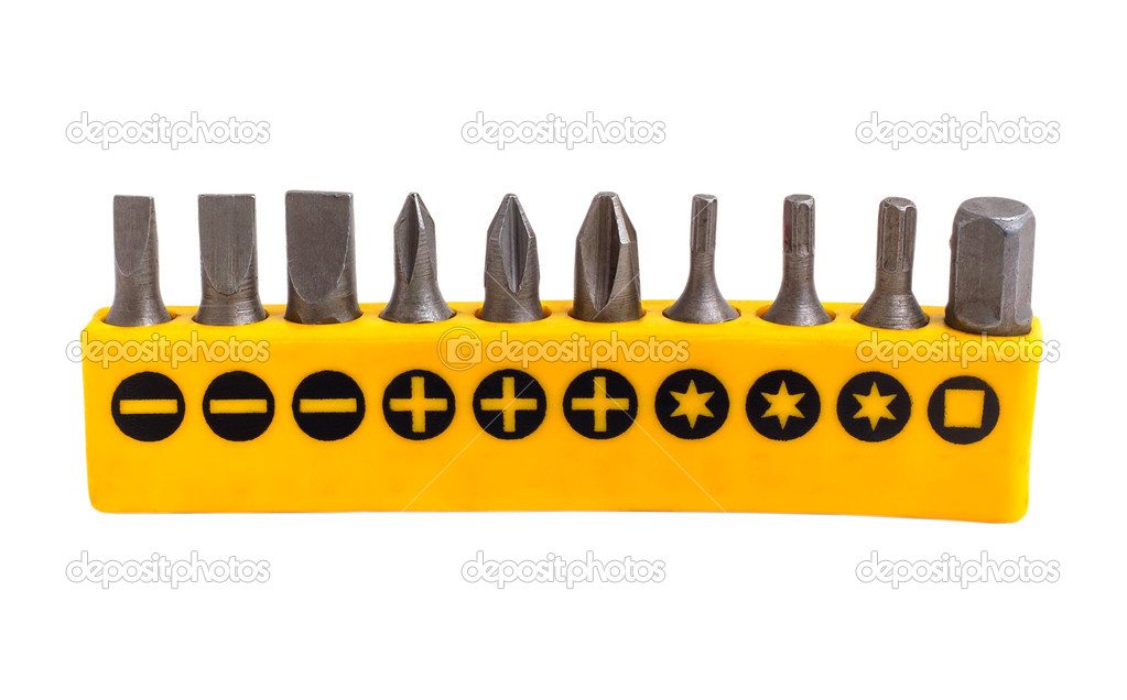 team yellow drill isolated on white background (clipping path)