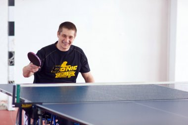 URYUPINSK- RUSSIA - MARCH 17: athlete table tennis, ping-pong, d