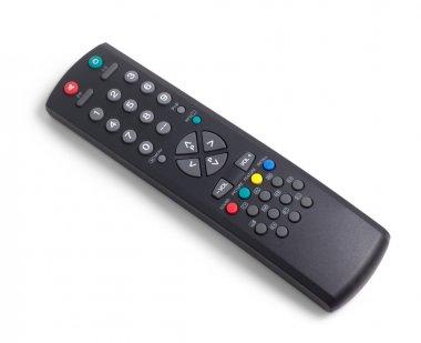 tv remote control black on white