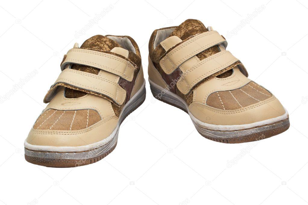 elszigetelt régi cipő gyermekek tépőzáras fehér cipők bézs FF8HqSv