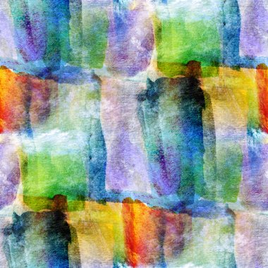 Wallpaper green, blue, yellow abstract seamless watercolor art h