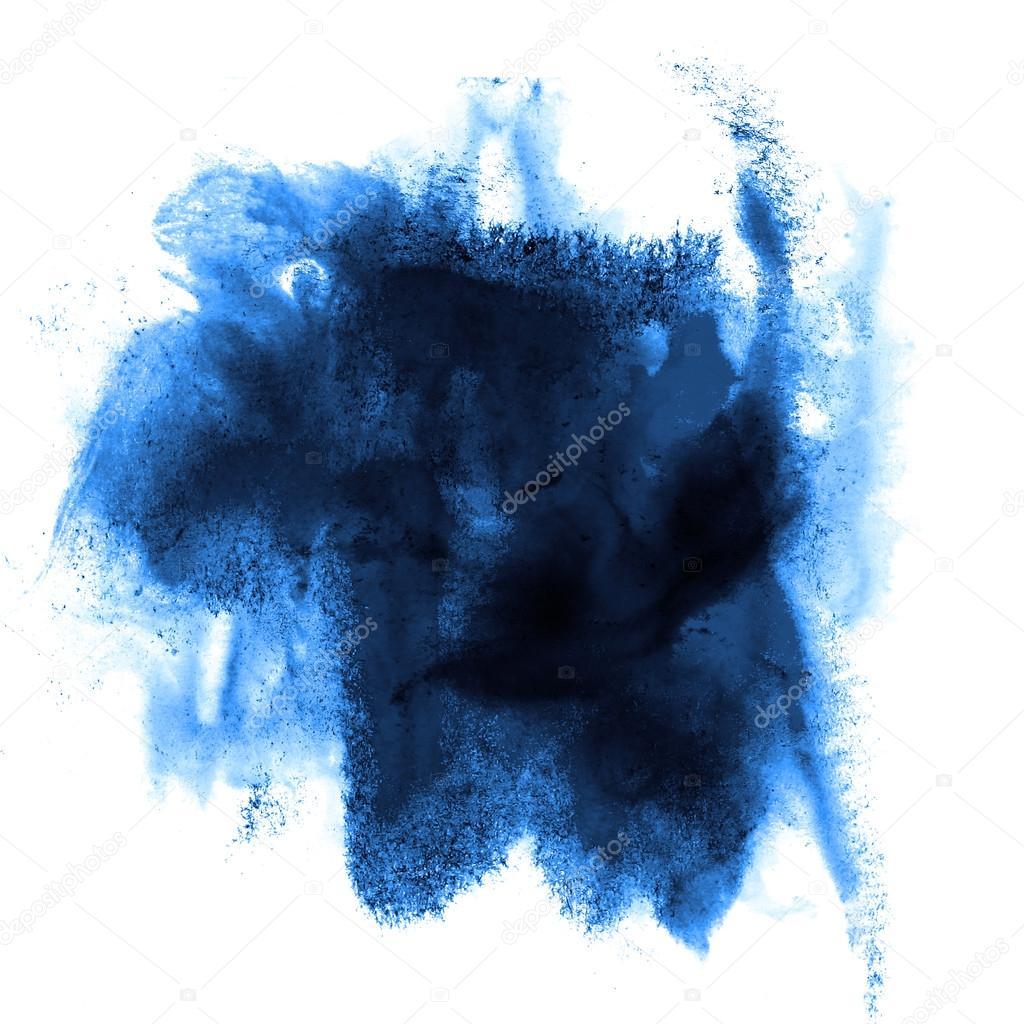 peinture bleu avc splatters couleur aquarelle eau abstraite brus