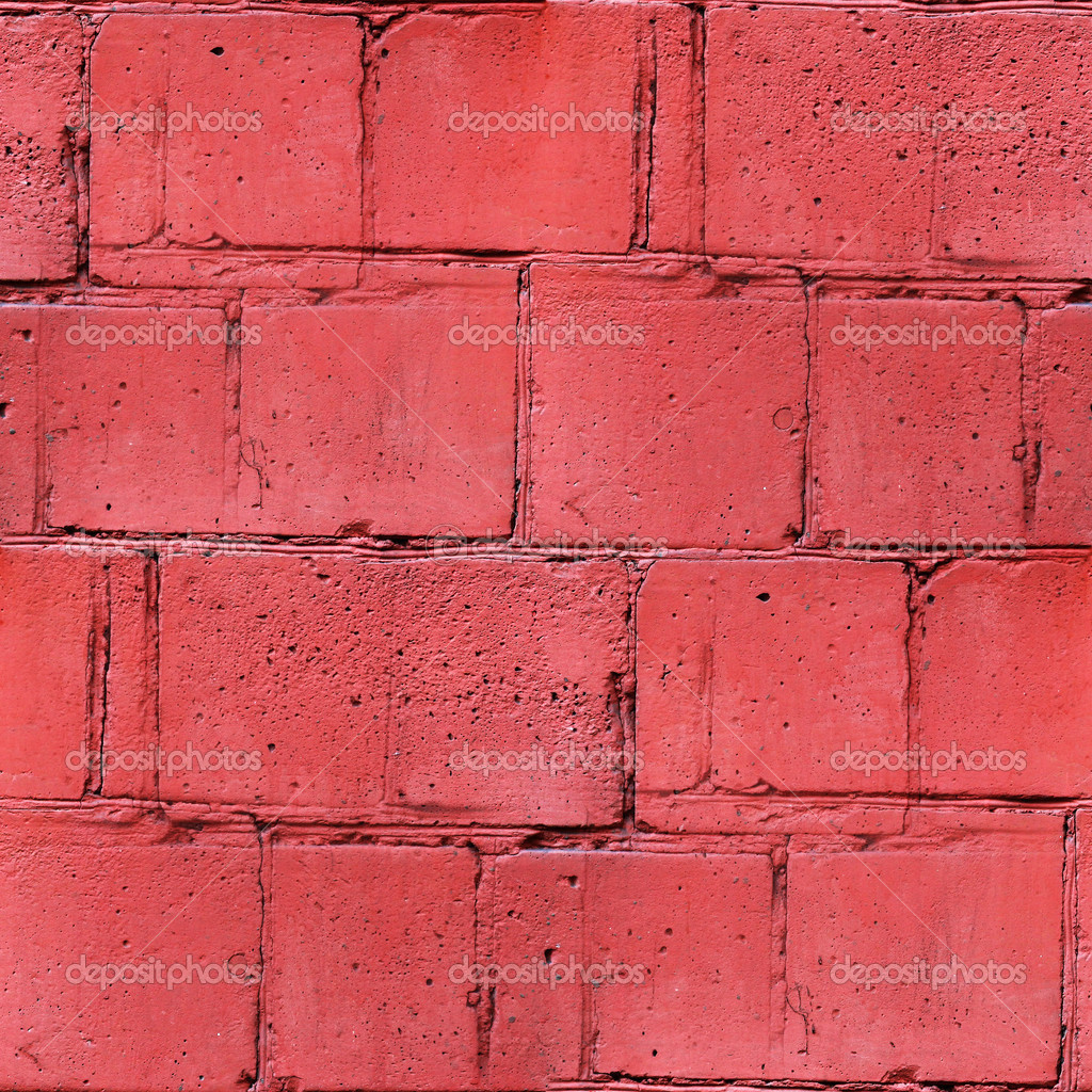 Seamless Texture Block Red Brick Wall Wallpaper For Your Message Stock Photo