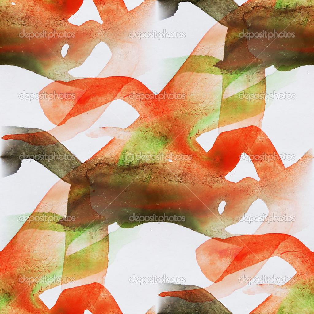 Nahtloser Kubismus Abstrakte Kunst Picasso Textur Rot Grunes Aquarell Stockfoto C Maxximmm1 26337829