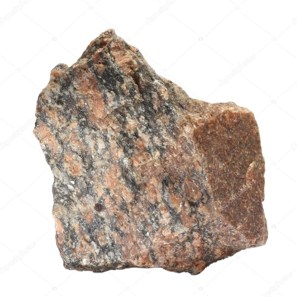 Red Granite Boulder : Stone red single granite boulder large river isolated big