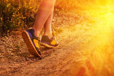 sports a shoes female large legs running, exercising and walking