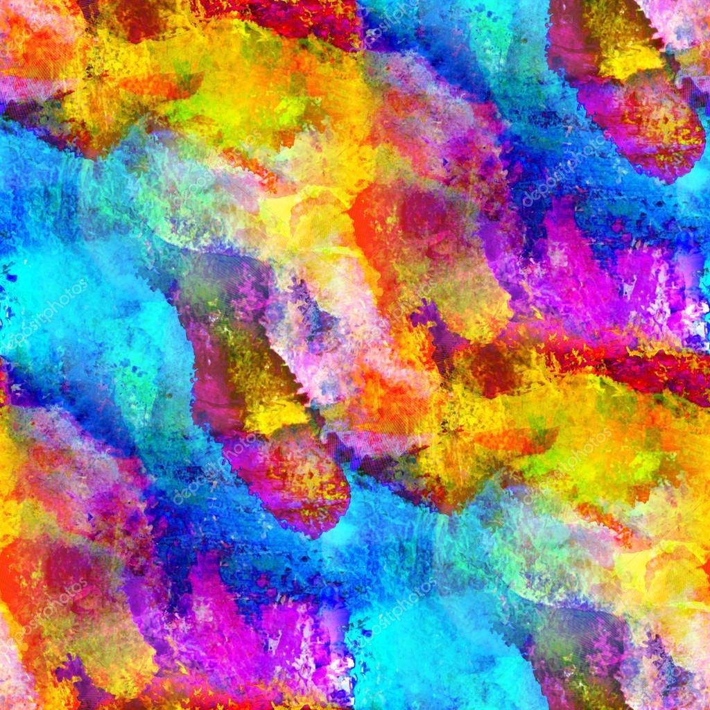 Multi Coloured Oil Paint Art
