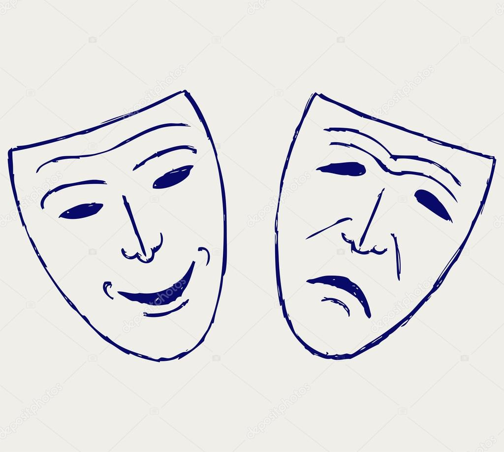 Klasik Komedi Tragedy Tiyatro Maskeleri Stok Foto Kreativ 12663972