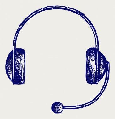 Headphones. Doodle style