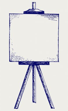Easel with empty canvas