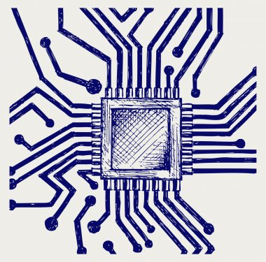 Motherboard with microchip