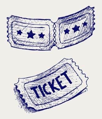 Ticket. Doodle style. Vector EPS 8 clip art vector
