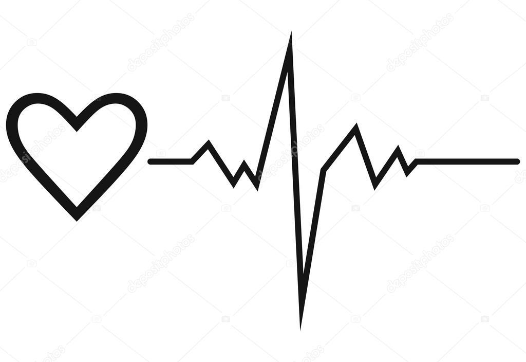 Биение сердца рисунок карандашом