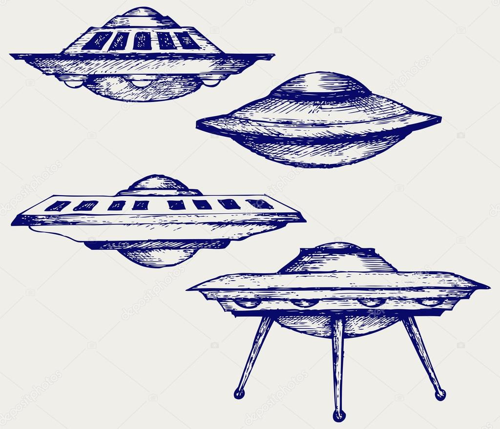 ᐈ Ufo Silhouette Stock Drawings Royalty Free Flying Saucer Vectors Download On Depositphotos