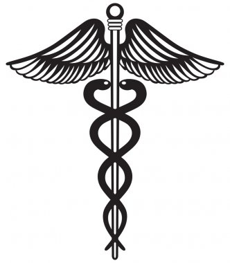 Symbol medical caduceus