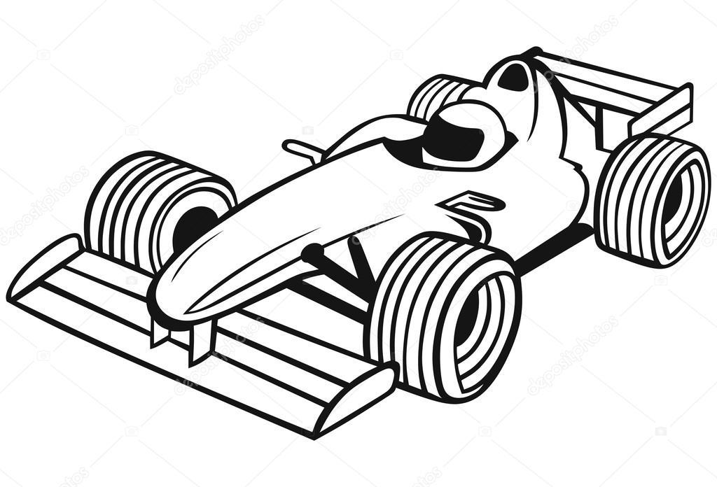 Line Drawing Photos : Formula racing car — stock vector kreativ