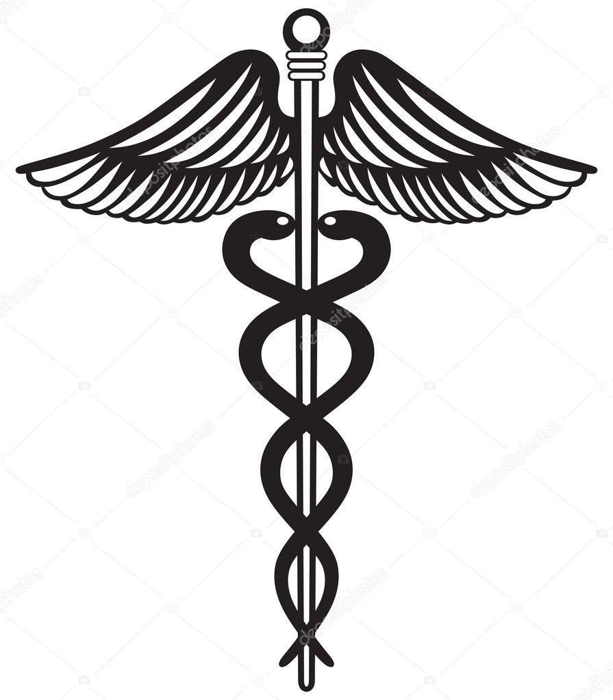 symbol medical caduceus stock vector kreativ 27397559 rh depositphotos com caduceus medical logo vector Caduceus Logo