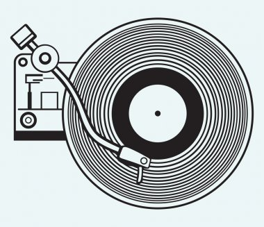 Record player vinyl record