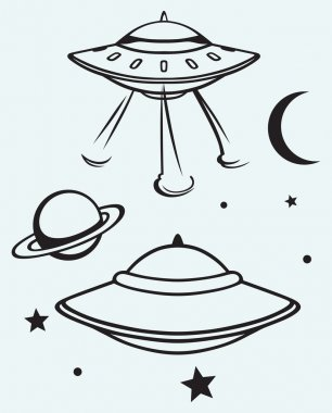 Space flying saucer