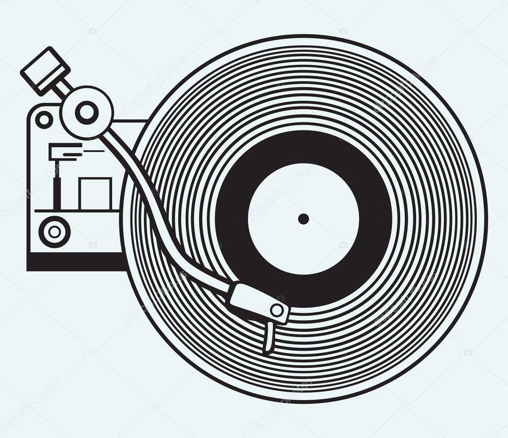 Record Player Vinyl Record Stock Vector C Kreativ 40868441