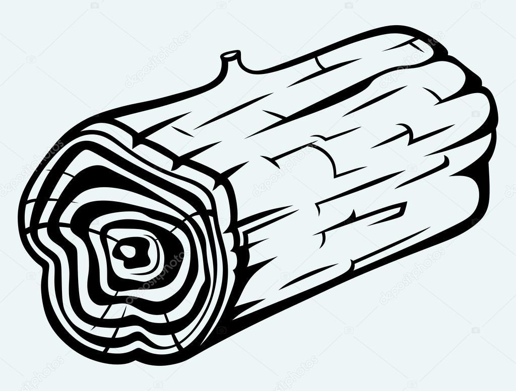 Coupe transversale de tronc d 39 arbre image vectorielle - Coupe transversale d un tronc d arbre ...