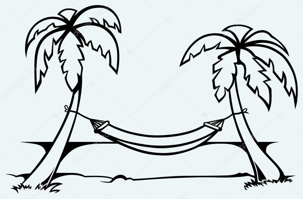 Palm Tree Hammock Clip Art