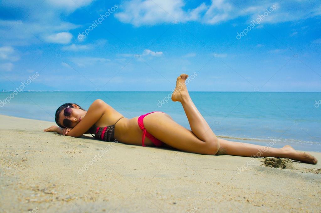 Woman Sun Tanning — Stock Photo © kbuntu #12152072