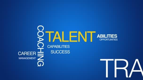 animace textu talentu