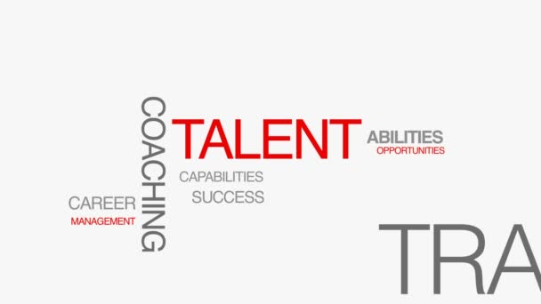 Talent Kinetic Type Word Cloud
