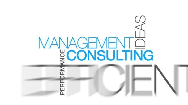 Management Consulting szó felhő szöveg animálása