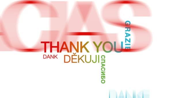 Danke in verschiedenen Sprachen Wortwolke