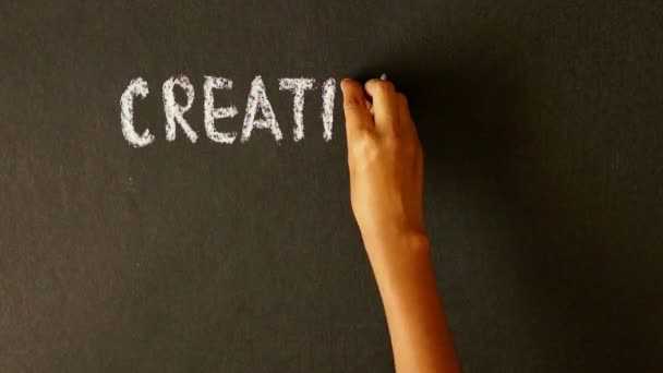 Kreativitás, a szorgalom, a siker Szumma kréta rajz