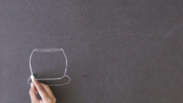 Fresh Coffee Chalk Drawing