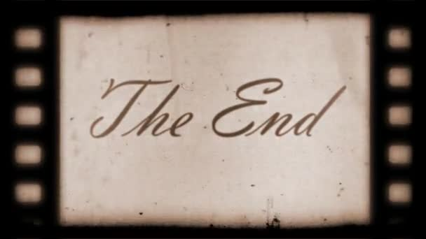The End Vintage Filmstrip