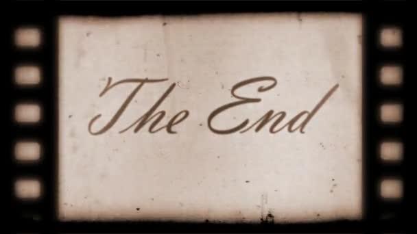 The End Vintage Filmstrip