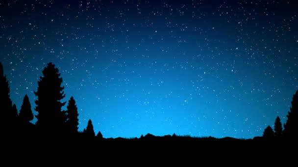 Forgó looping éjszakai égbolt