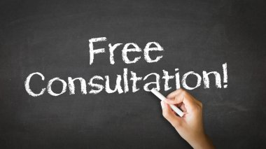 Free Consultation Chalk Illustration