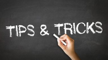 Tips and Tricks Chalk Illustration