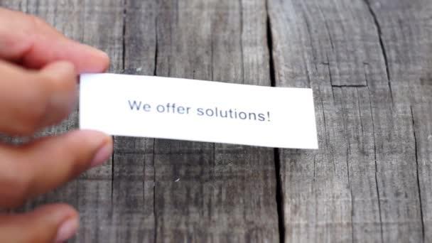 Wir bieten Lösungen