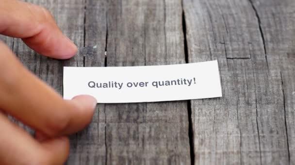 kvalita před kvantitou