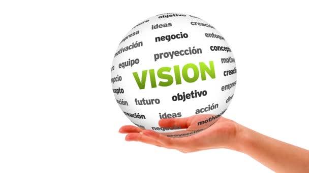 Vision szó gömb (spanyolul)