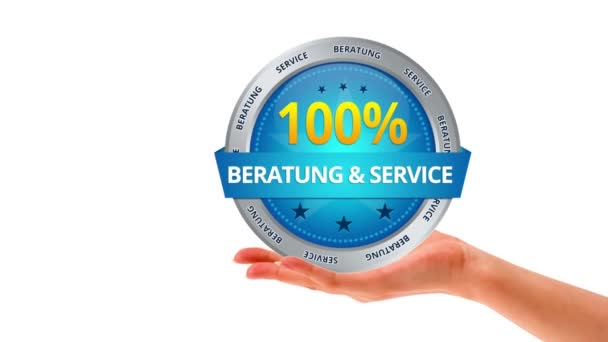 100 percent consultation and service (In German)