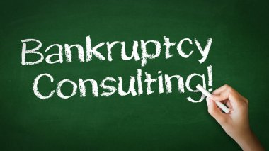 Bankruptcy Consulting Chalk Illustration