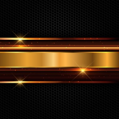 Abstract background with a futuristic metallic design stock vector