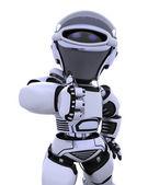roztomilý robot cyborg