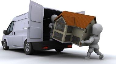 removal men loading a van