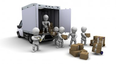 men packing boxes for shipment