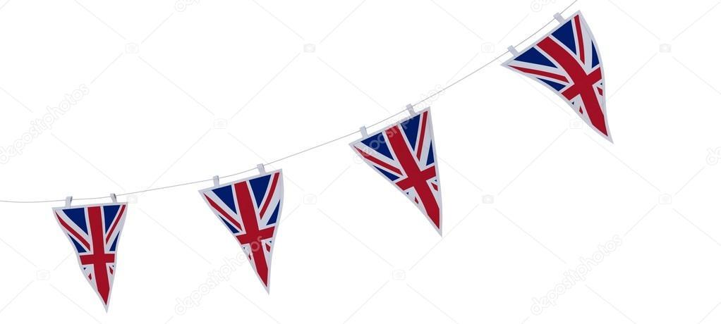 banderas y empavesado union jack — Foto de stock © kjpargeter #37855539