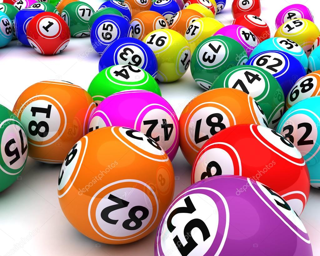 A set of colouored bingo balls ⬇ Stock Photo, Image by © kjpargeter  #37856013