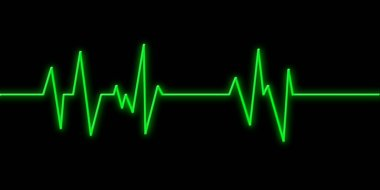 Hearbeat monitor background stock vector